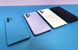 Samsung Galaxy A52 y A72.