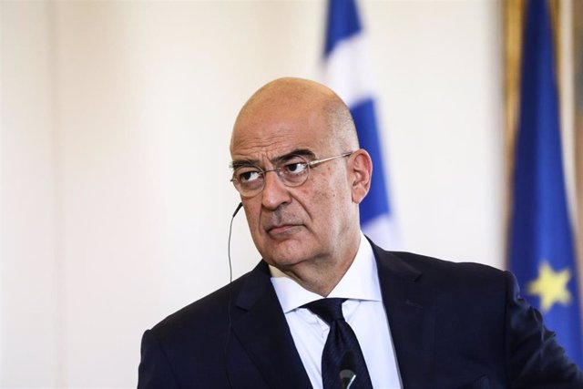 Archivo - Nikos Dendias, ministro de Exteriores de Grecia.