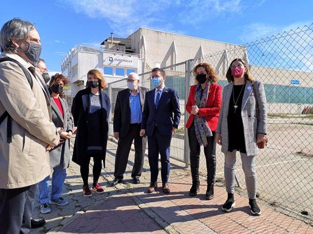 El líder d'ERC Barcelona, Ernest Maragall, al costat del vicepresident del Govern, Pere Aragonès; la consellera de Justícia, Ester Capella; i la tinent d'alcalde, Janet Sanz.