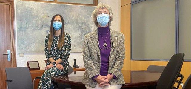 Marta Esteban López y Argelia Castaño, científica titular y directora del Centro Nacional de Sanidad Ambiental (CNSA) del ISCIII