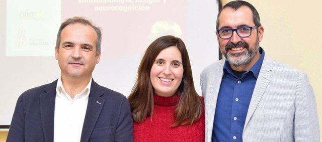 De izd. A dcha. Alfonso Gutiérrez-Zotes, Lia Corral y Javier Labad