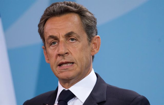 Archivo - FILED - 17 June 2011, Berlin: Nicolas Sarkozy, then French President, speaks at a press conference in the Chancellery in Berlin. Sarkozy is on trial for accusations of illegal campaign financing starting on Wednesday, two weeks after he was sent