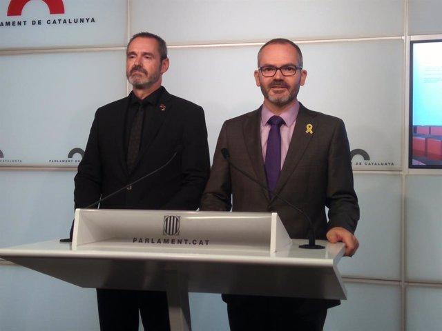 Archivo - Arxiu - Josep Costa i Eusebi Campdepadrós (Junts).