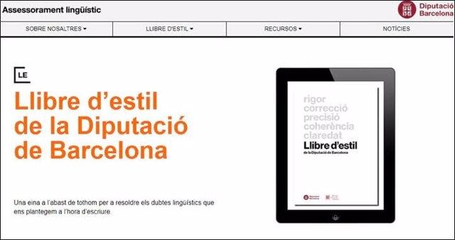 La Diputació de Barcelona estrena un web sobre assessorament lingüístic obert a la ciutadania