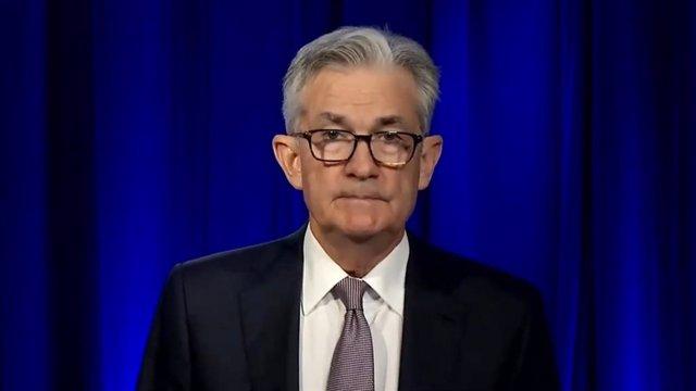 Archivo - El presidente de la Fed, Jerome Powell, durante su intervención en un actor organizado por NABE el 6 de octubre de 2020.