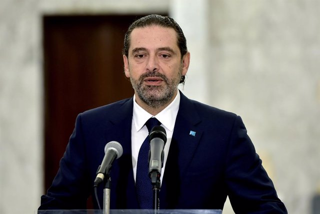 Archivo - El primer ministro encargado de Líbano, Saad Hariri