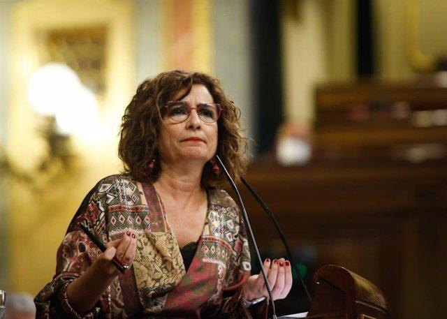 La ministra d'Hisenda i portaveu del Govern central, María Jesús Montero