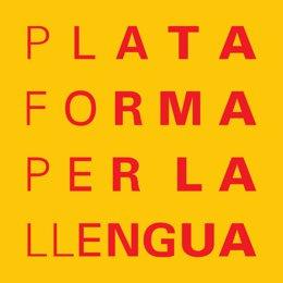 Logotip de l'entitat Plataforma per la Llengua (Arxiu)