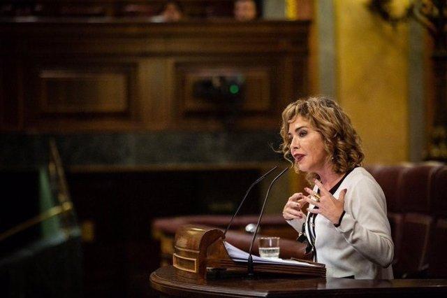 Archivo - La portavoz de Educación de Ciudadanos, la diputada Marta Martín, durante su intervención en el Pleno del Congreso