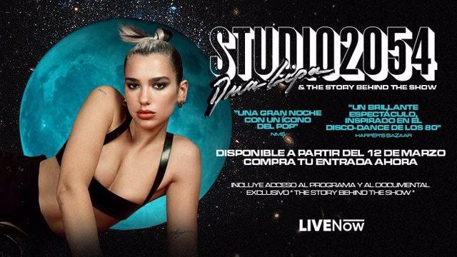 Dua Lipa revive su concierto en streaming, 'Studio 2054', acompañado de un documental inédito