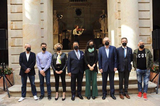Asistentes al evento BacktoEvents celebrado en Llotja de Barcelona para la reactivación del sector de los eventos presenciales