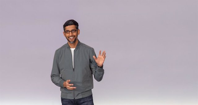 Archivo - FILED - 07 May 2019, US, Mountain View: Google CEO Sundar Pichai speaks during the annual Google I/O developer conference. CEO of Google and Alphabet Sundar Pichai is convinced that AI must be regulated in order to prevent the potential negative