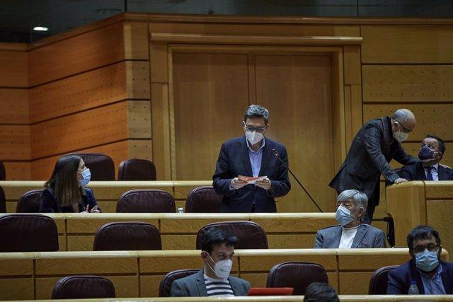 Archivo - El portaveu de Cs al Senat, Tomás Marcos Arias, durant una sessió de control al Govern central. Madrid (Espanya), 2 de febrer del 2021. (Arxiu).