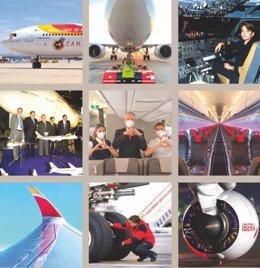 Iberia celebra 40 años de la llegada de su primer Airbus