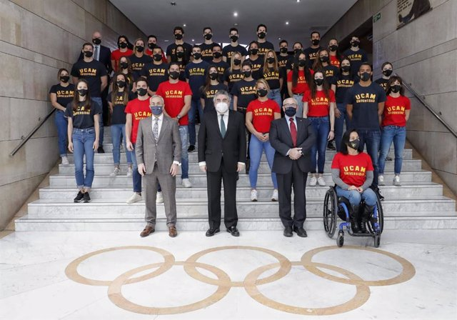 El ministro de Cultura y Deporte, José Manuel Rodríguez Uribes, presidió el acto de presentación de nuevos deportistas olímpicos becados por la UCAM.