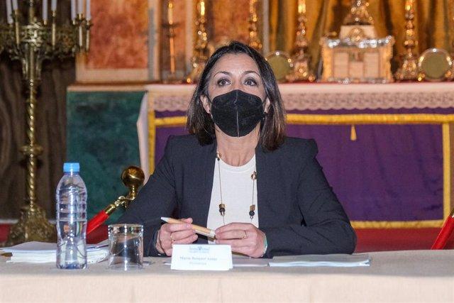 La presidenta del Parlamento, Marta Bosquet, este jueves en el Oratorio de San Felipe Neri en Cádiz.
