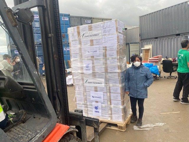 Archivo - Donación de medicamentos a Honduras por parte de Cofares.