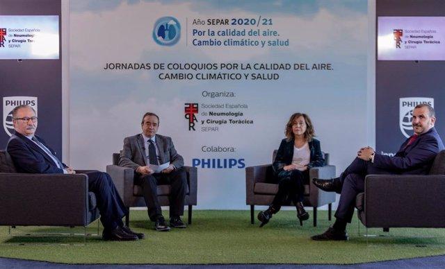 Jornadas SEPAR-Philips 'Por la calidad del aire. Cambio climático y salud'