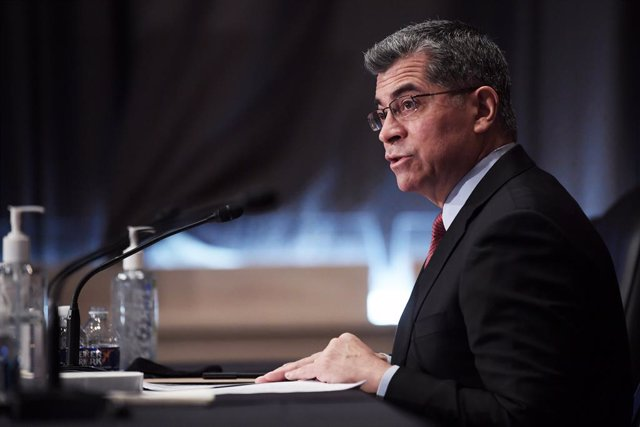 23 February 2021, US, Washington: Xavier Becerra, speaks during his confirmation hearing to be Secretary of Health and Human Services before the Senate Health, Education, Labor and Pensions Committee. Photo: Lenin Nolly/ZUMA Wire/dpa