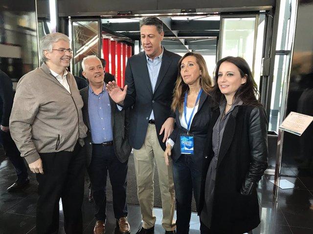 Archivo - Arxiu - Jordi Cornet, Santi Rodríguez, Xavier García Albiol, Alicia Sánchez-Camacho i Andrea Levy, PP.