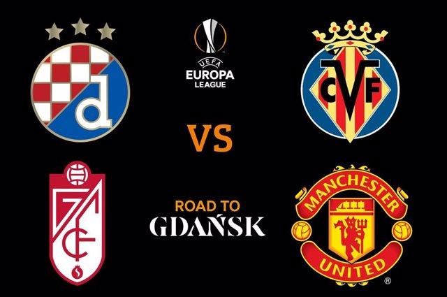El Villarreal CF se medirá al Dinamo de Zagreb y el Granada CF al Manchester United en los cuartos de final de la UEFA Liga Europa 2020/21