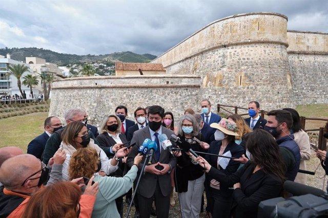 El vicepresidente de la Junta de Andalucía y consejero de Turismo, Regeneración, Justicia y Administración Local, Juan Marín, en La Herradura (Granada)