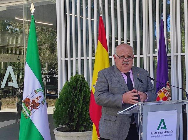 El cosnejero de Salud y Familias, Jesús Aguirre.