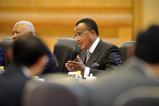 Archivo - El presidente de República del Congo, Denis Sassou Nguesso