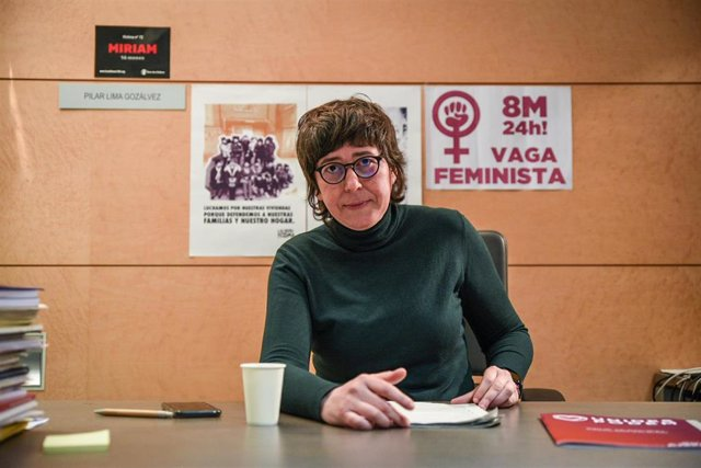 La coordinadora de Podemos en la Comunidad Valenciana, Pilar Lima, durante una entrevista con Europa Press, en Valencia (España), a 18 de marzo de 2021.