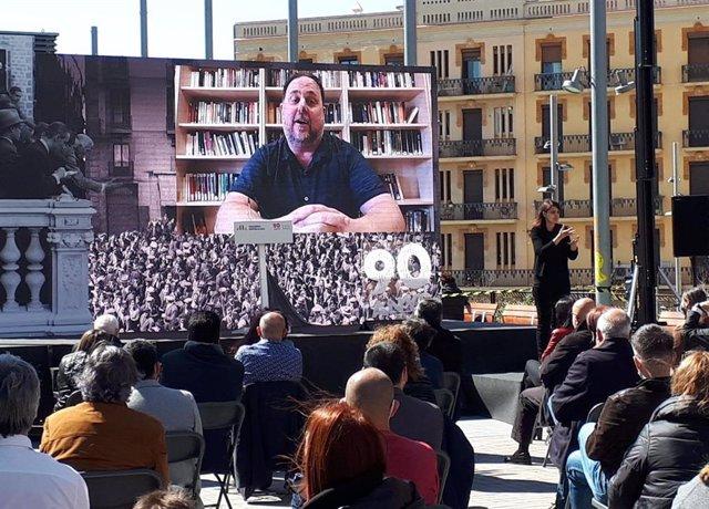 El líder d'ERC i ex-vicepresident de la Generalitat, Oriol Junqueras