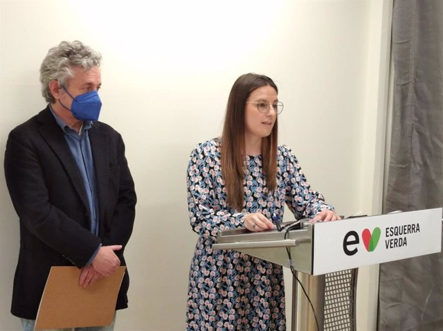 Els coordinadors d'adreça d'Esquerra Verda Anna Martin i Andreu Mayayo