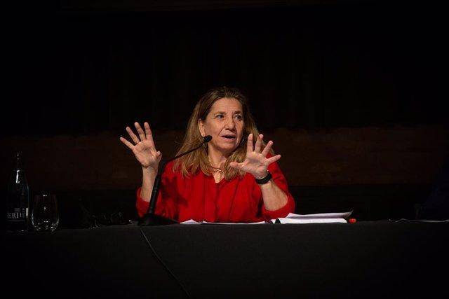 Archivo - Arxivo - La presidenta de l'Acadèmia del Cinema Catalá, Isona Passola, intervé durant la presentació dels XIII Premis Gaudí i el balanç del cinema català de 2020, a Barcelona, Catalunya (Espanya), a 16 de desembre de 2020