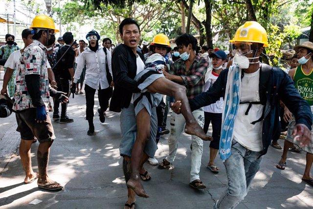 Protestes contra el cop d'estat a Birmània