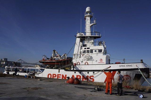 El vaixell Open Arms a Barcelona