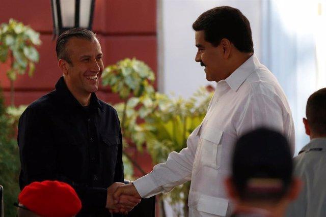 Archivo - Nicolás Maduro y Tareck El Aissami