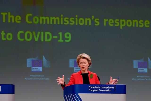 La presidenta de la Comissió Europea, Ursula von der Leyen