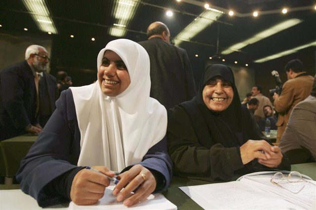 Archivo - Yamila al Shanti, primera mujer en ser elegida para formar parte de la Dirección Ejecutiva del Movimiento de Resistencia Islámica (Hamás)