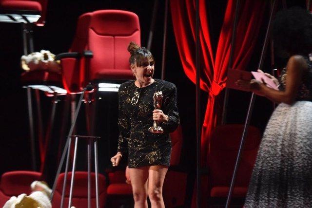 L'actriu Candela Peña, que s'ha alçat amb el Premi Gaudí com a Millor Protagonista Femenina per 'Les noces de Rosa'