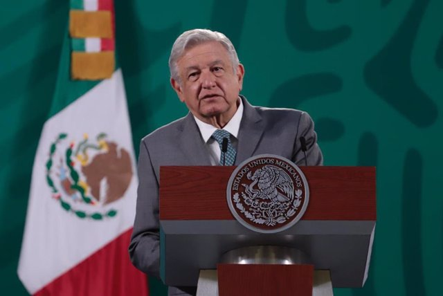 15 March 2021, Mexico, Mexico City: Mexican President Andres Manuel Lopez Obrador speaks during his daily press conference. Photo: -/El Universal via ZUMA Wire/dpa