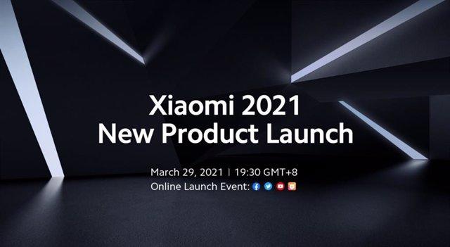 Anuncio de evento de presentación de producto