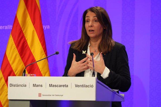 La portaveu del Govern i consellera de la Presidència, Meritxell Budó.