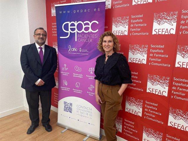 El presidente de la Fundación SEFAC, Vicente J. Baixauli, y la presidenta de GEPAC, Begoña Barragán