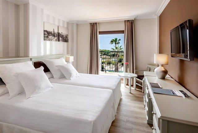 Archivo - Habitación de hotel de Barceló Hotel Group.