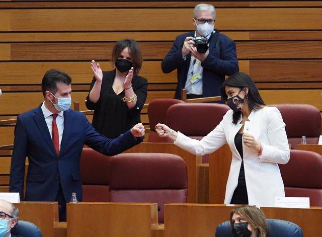 El PSOE durante el debate de la moción de censura