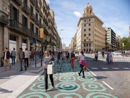Barcelona ampliará el espacio para peatones en la calle Pelai a través del urbanismo táctico