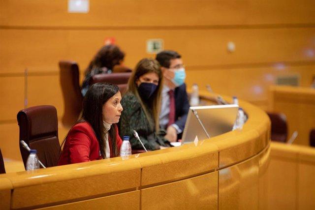 La presidenta de REE, Beatriz Corredor, en el Senado