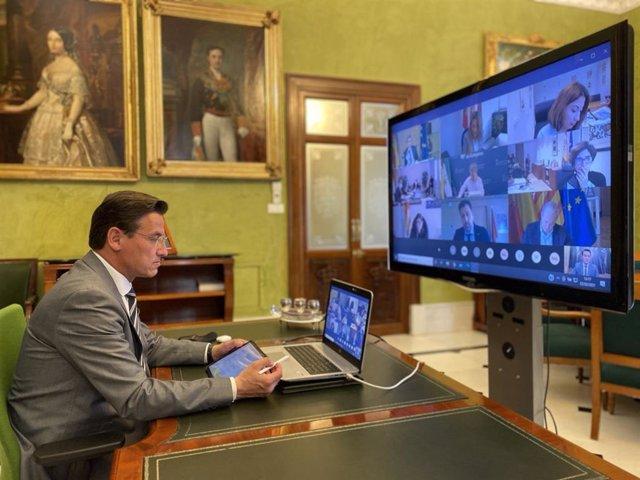 Reunión del alcalde de Granada con el ministro de Cultura