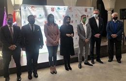 Presentación del partido de fútbol clasificatorio para el mundial de Catar 2022 entre Noruega y Turquía que acogerá la Rosaleda el 27 de marzo