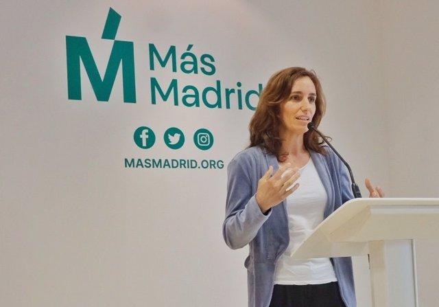 Archivo - La líder autonómica de Más Madrid, Mónica García.