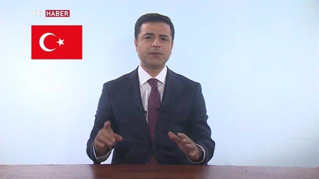Imagen de archivo del líder opositor turco Selahattin Demirtas.